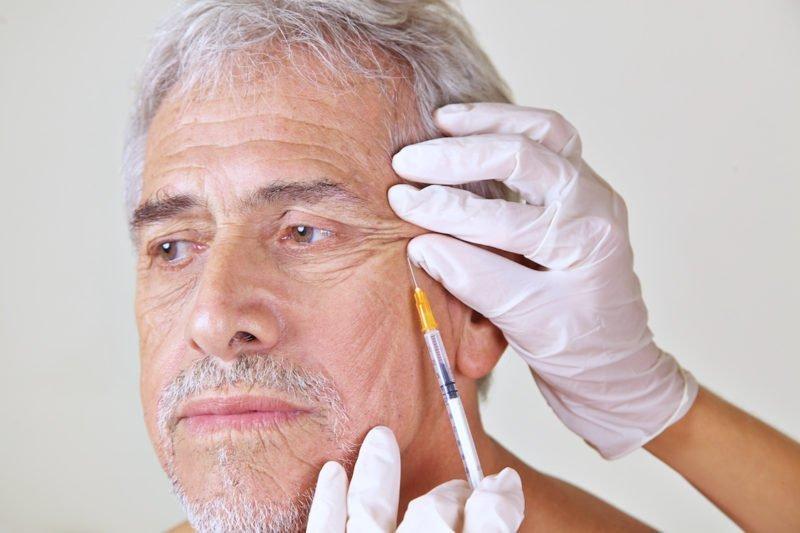 Man receiving botox