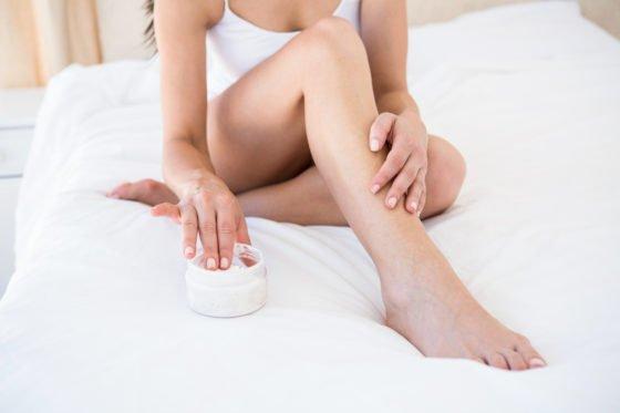 moisturizing dry legs